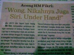 Nikah Under Hand
