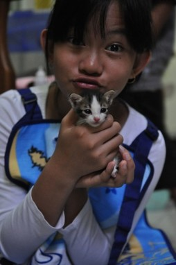 Nadya and Kitten